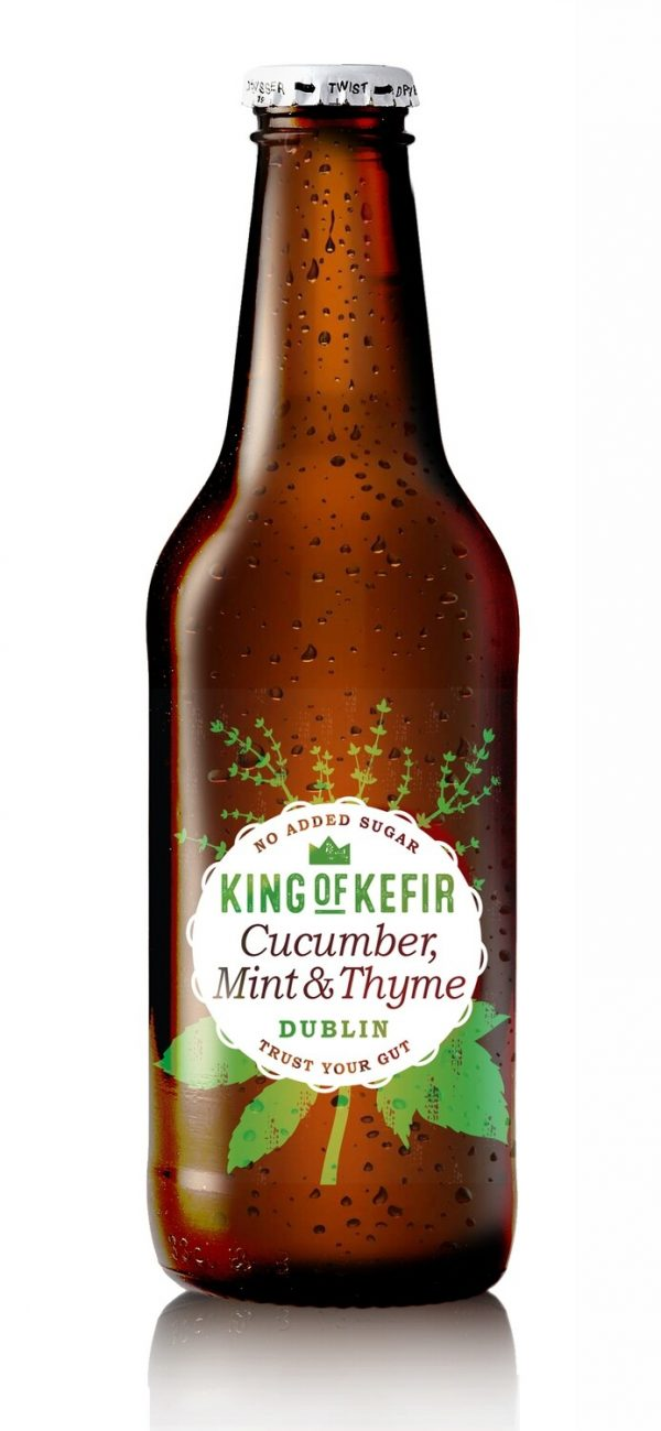 king of kefir cucumber, mint and thyme